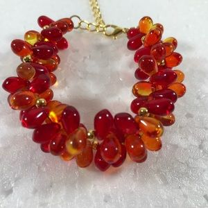 Jewelry - Handmade Beaded Fall bracelet with earring